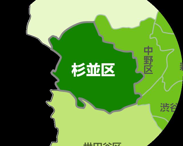 杉並区 クリーニング 地図
